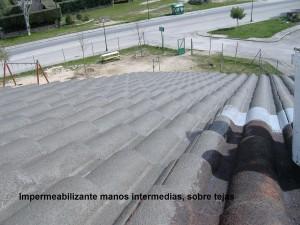 Impermeabilización capas intermedias sobre tejas