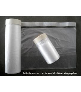 ROLLO DE PLASTICO CON CINTA