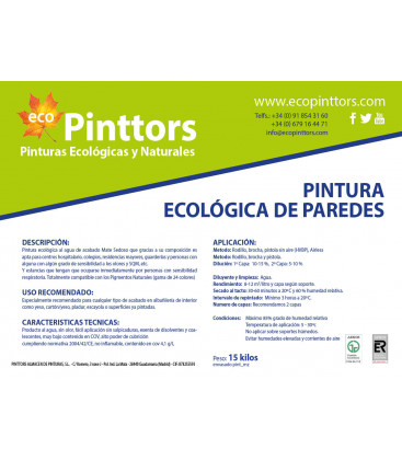 PINTURA ECOLÓGICA DE PAREDES