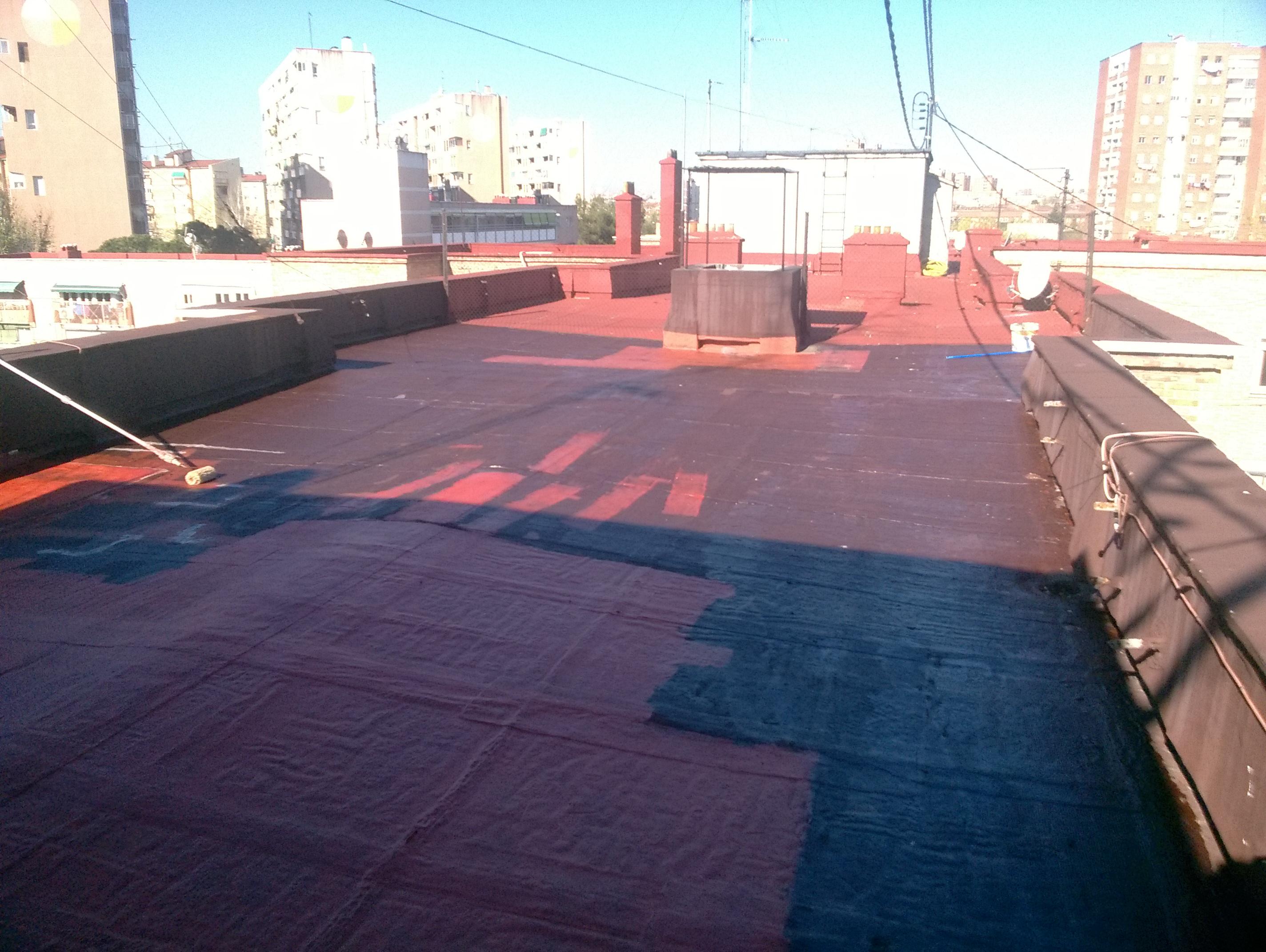 Impermeabilización de terraza transitable.