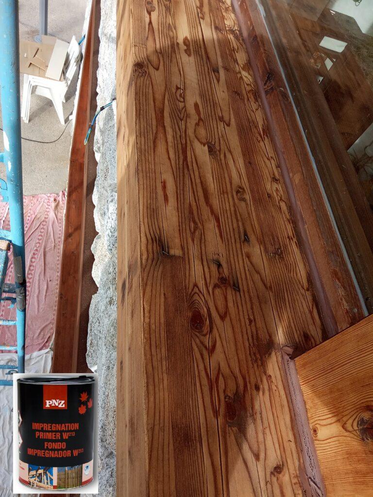 Tratamiento fungicida para madera exterior